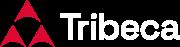 Tribeca logo Red Icon White Type